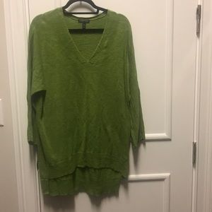 Eileen Fisher organic green sweater